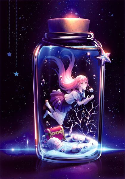 Mädchen im Glas