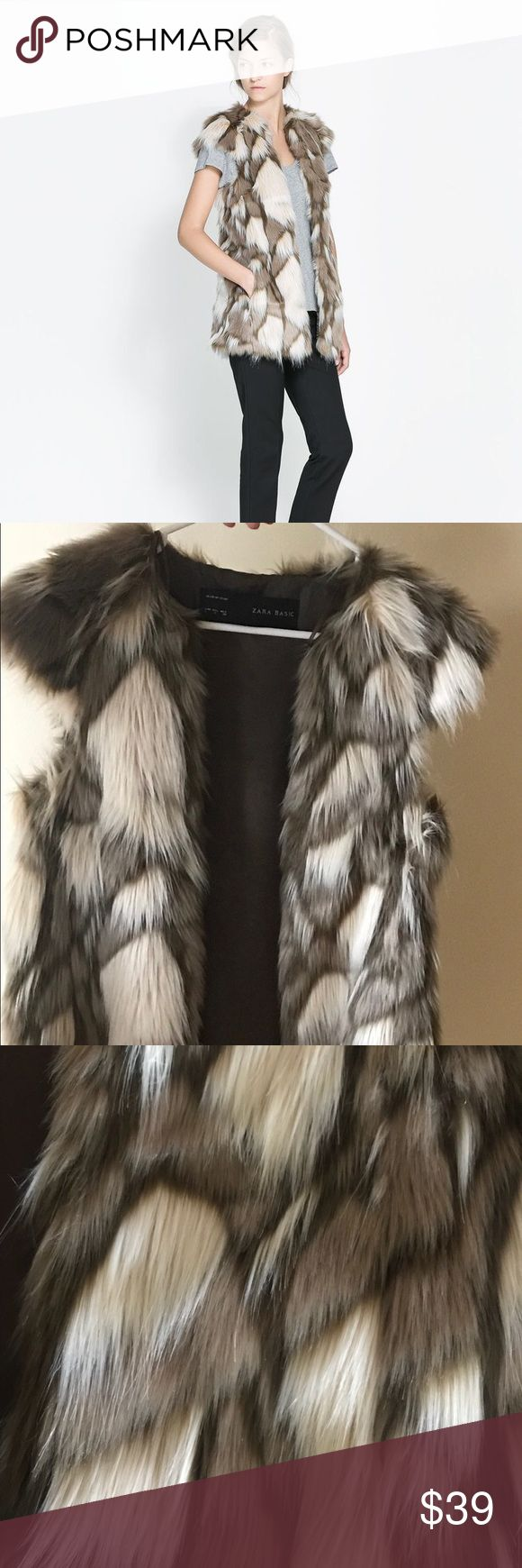 Zara Long Fur Waistcoat Zara Long Fur Waistcoat in size Small. Worn two times and in like new condition. Zara Jackets & Coats Vests