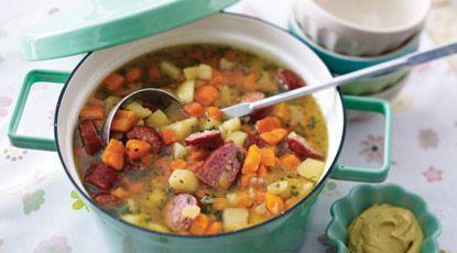 Gevulde wortel-aardappelsoep - Foodies
