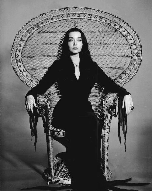 "Carolyn Jones, best known for her role as Morticia Addams on ""The Addams Family""."