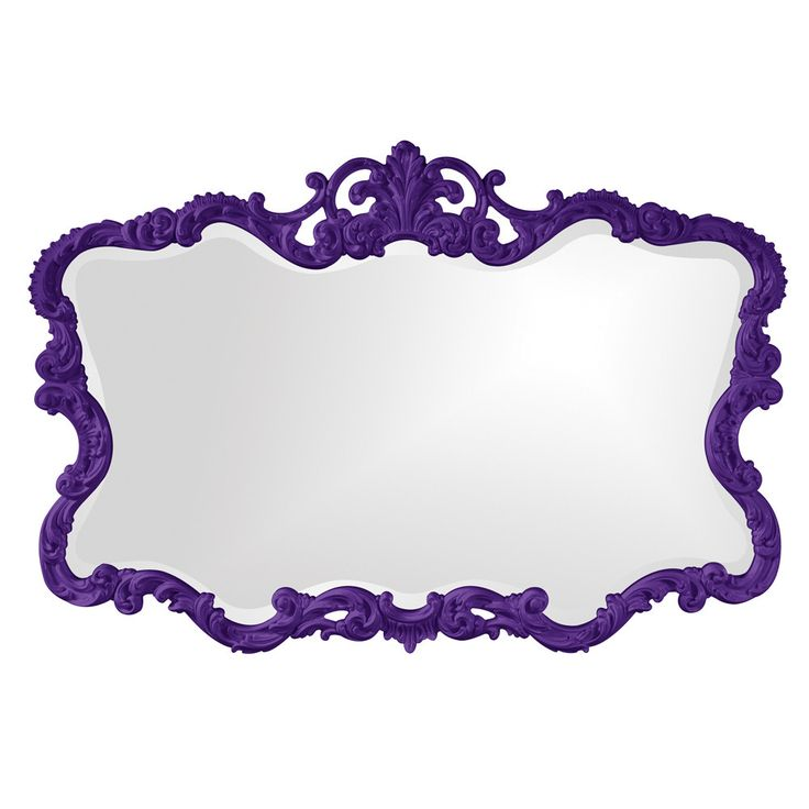 "Howard Elliott Talida Royal Purple Mirror 27"" x 38"" x 1"""