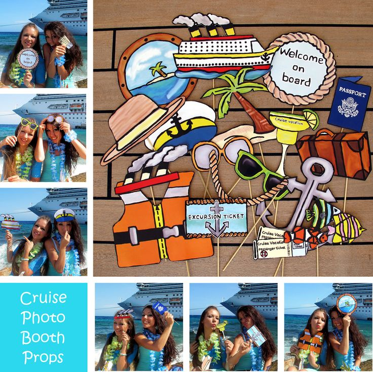 cruise photo booth props - perfect to celebrate a vacation or a ...