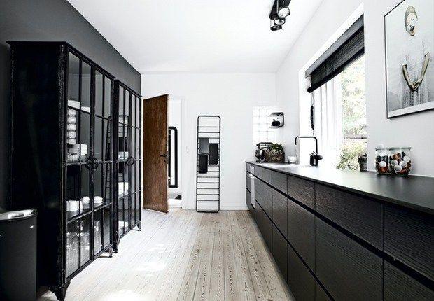 Home with shades of black - via cocolapinedesign.com