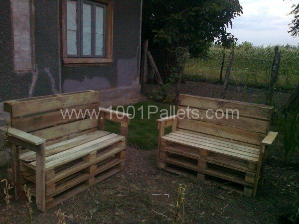 Fotografie0041 600x450 Garden Benches From Pallets In Pallet Outdoor Project With Bench