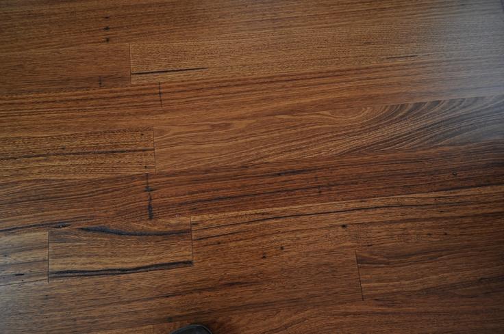 Close up - Australian Wormy Chestnut - Walnut stain