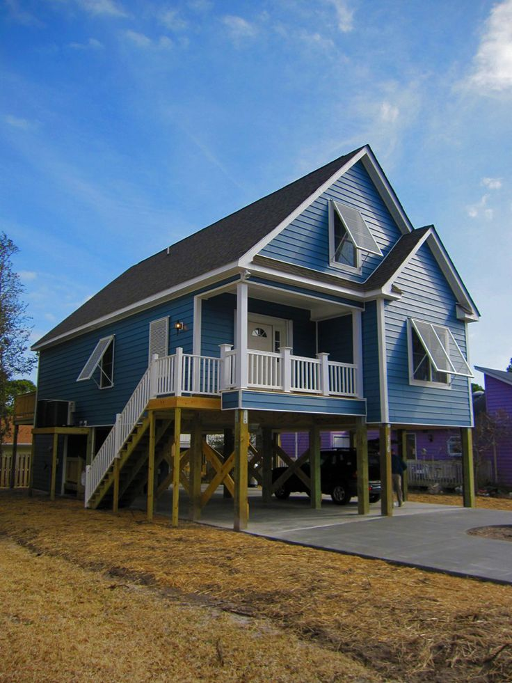 Cape cod beach home located in north carolina completed for Modular beach house
