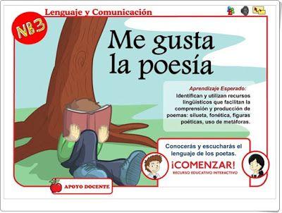 """DIEZ RECURSOS PARA EL EL ESTUDIO DE LA """"POESÍA"""" EN EDUCACIÓN PRIMARIA http://recursoseducativosdeprimaria.blogspot.com/2017/02/diez-recursos-para-el-el-estudio-de-la.html"""