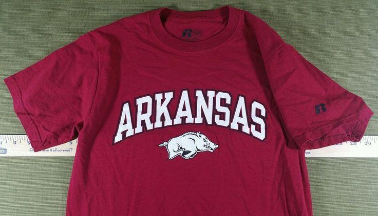 RUSSELL ATHLETICS ARKANSAS RAZORBACKS T SHIRT Size Small #Arkansas
