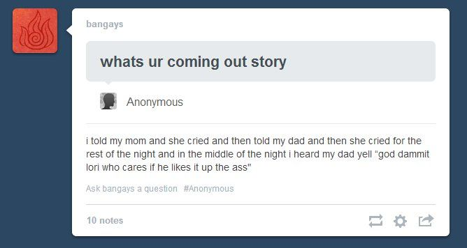 I've heard of mothers being supportive, but not fathers. Damn. CAN HE BE MY DAD