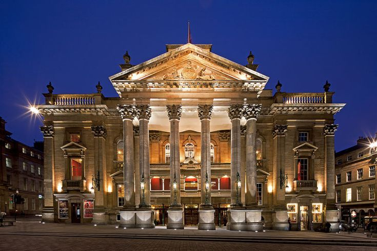 A spectacular view of the Theatre Royal Newcastle floodlit as dusk Camera used Ebony SW23 6x9 Format: Digital C-type photographic prints printed on Fuji Crystal Archive DP11 Professional Photographic paper. Available in two sizes. Choose your preferred finish Matt, Silk, Gloss Print size: 25.4 x 40.64cm Mounted size: 41 x 61cm (total) Print size: 41 x 61cm Mounted size: 59 x 76cm (total) FREE UK mainland standard delivery on all orders