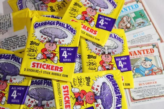 Garbage Pail Kids Series 4 Unopened Pack Etsy Garbage Pail Kids Kids Series Pail