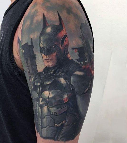 26 best batman tattoo 39 s images on pinterest batman for Bat sleeve tattoo