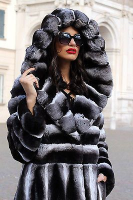 La fourrure manteau de fourrure manteau Chinchilla Fur Coat Fourrure Cincilla PELLICCIA норка