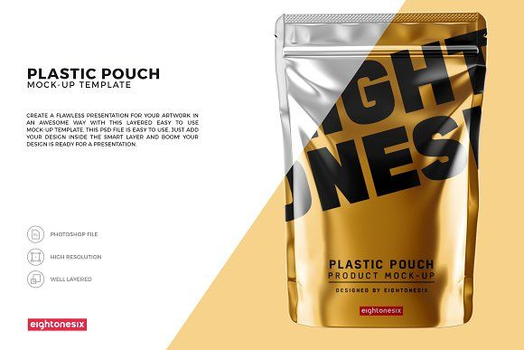 Download Glossy Plastic Pouch Mock Up Plastic Pouch Mockup Packaging Mockup