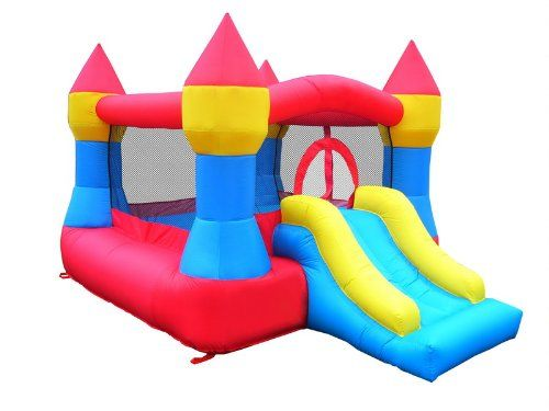 Castle Inflatable Bounce House w/ Slide (12' x 9')