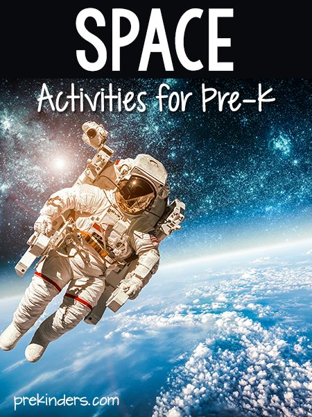 Pre-K & Preschool theme ideas for learning about space: planets, stars, astronauts. Find more Space Activities for Pre-K on the category page. Books Check here for a complete list of Books about Space! Moonwalk {Large Motor} We listen to slow music and pretend we were on the moon, moving in slow motion. Counting Backward {Large Motor, Math} We erase numbers 10-1 from the board as the class counts backward. We