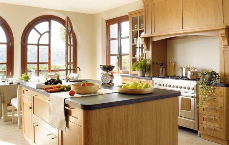 para elegir qué tipo de cocina de madera y qué muebles quieres para