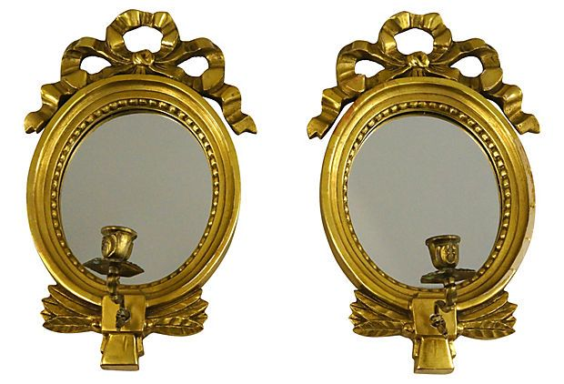 HOME DECOR - ILLUMINATION - CANDLE SCONCE - Pair of ... on Decorative Wall Sconces Candle Holders Centerpieces Ebay id=30325