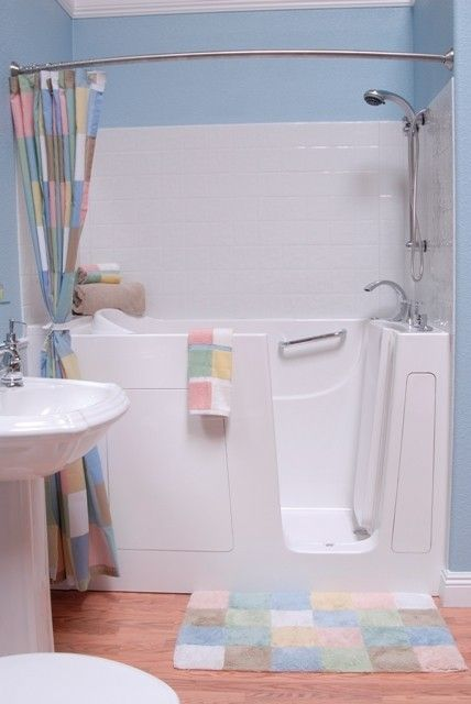 This is my dream bathtub. Available in several sizes to  fit/replace original tub,with or without whirlpool option
