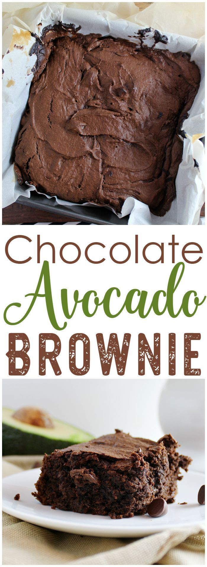 A rich, chocolate, better-for-you brownie! Make these Chocolate Avocado Brownies to get you through when you're craving something delicious!