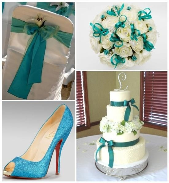 Turquoise wedding theme...I'm thinking also brown with it :)
