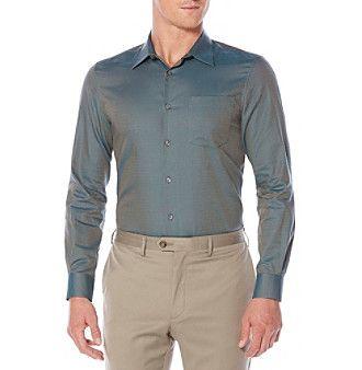 Perry Ellis® Men's Long Sleeve Mini Brick Button Down