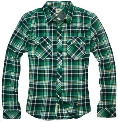 LEE RIDER SHIRT SLIM FIT FLANELA KOSZULA KRATA - M