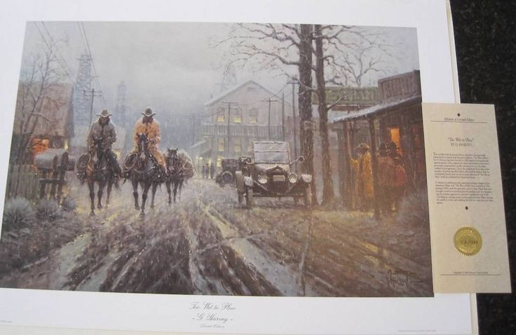 Western & Cowboy Art 12 Prints Signed by Each Artist John Connally Collection. Set in box.