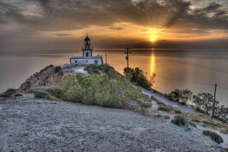 Akrotiri lighthouse. Akrotiri, Santorini island, Greece - selected by www.oiamansion.com