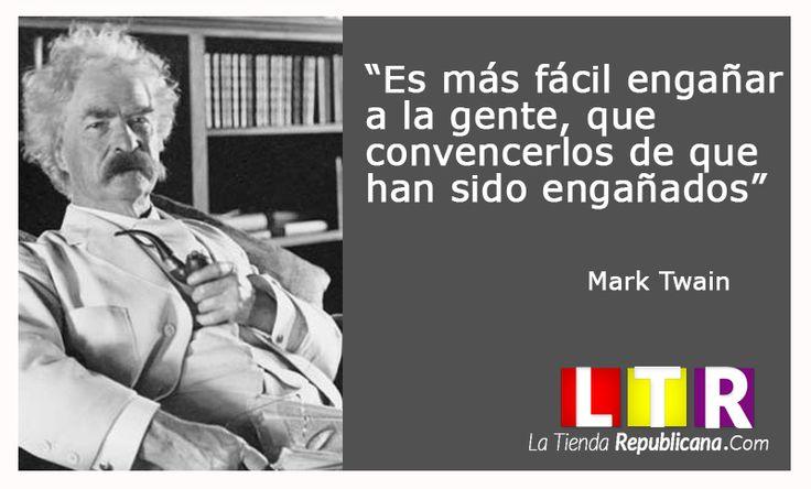 Mark Twain. www.latiendarepublicana.com