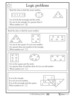 Logic problems from www.greatschools.org  (I teach ELA, but we are also focusing on Math during Extended Learning Time (ELT))