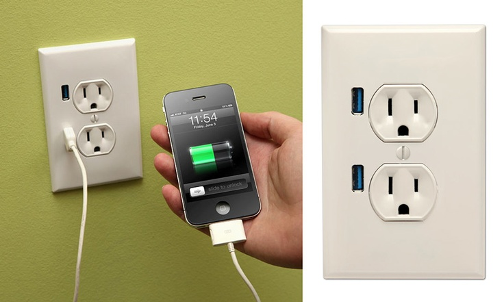 USB + electric outlet