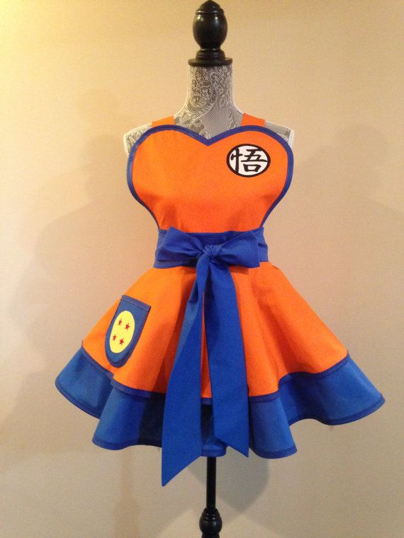 Dragon Ball - Goku - Dragon Ball Costume - Goku Costume - Goku apron - Retro Apron - Cosplay Apron