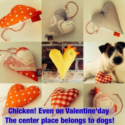 Hearts, chicken, dog and Valentine's day! #valentinesday #valentines #etsy  #etsyseller  #etsyshop #jackrussell  #jackrussellterrier  #jackrussel #hearts #plush #homedecor