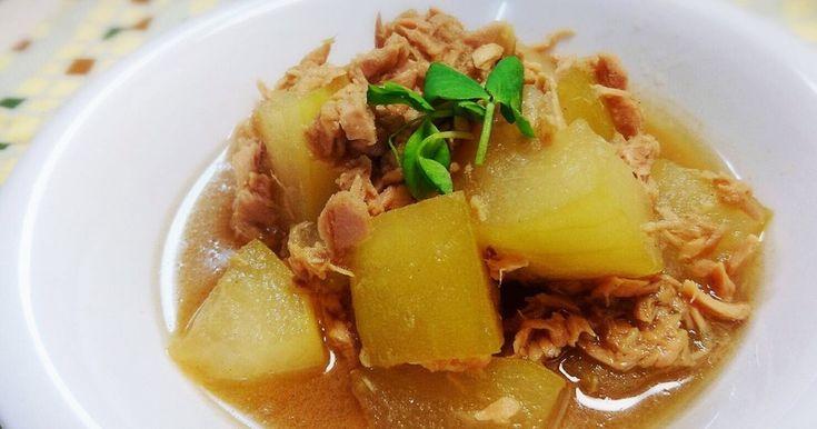 冬瓜とシーチキンの相性バッチリ煮物!冬瓜はすぐに柔らかくなるので簡単に手早く仕上がります!大きな冬瓜の消費に役立つよ!