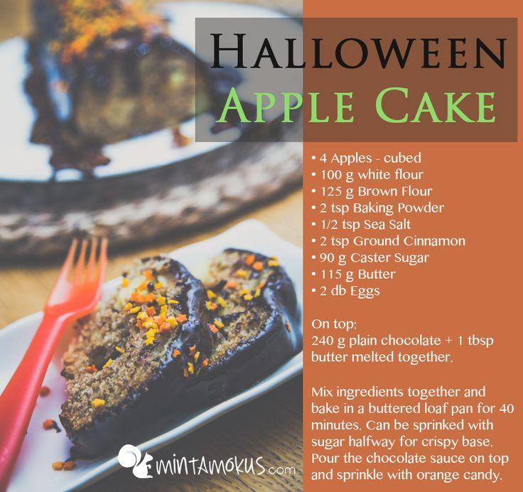 Halloween Apple Cake