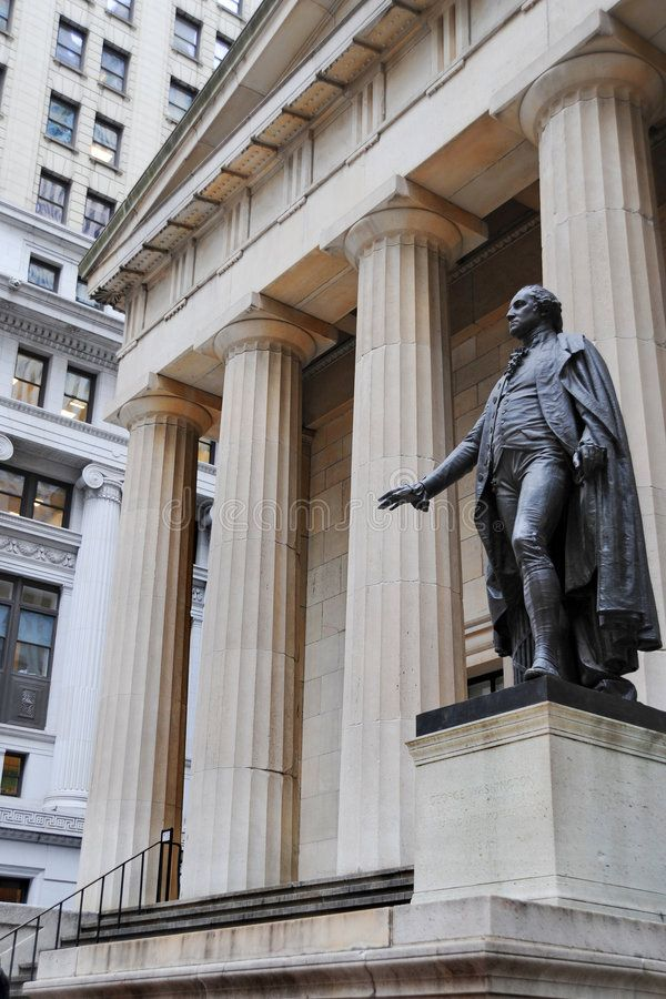 Federal Hall And Washington Statue In Manhattan Financial District Affiliate Washington Hall Federal Statue Stock Images Stock Images Free Image