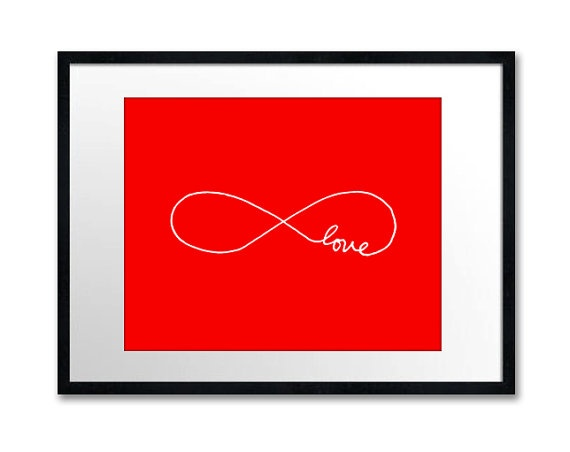 Infinite Love  8x10 inch Print on A4 poster in by theloveshop, $20.00