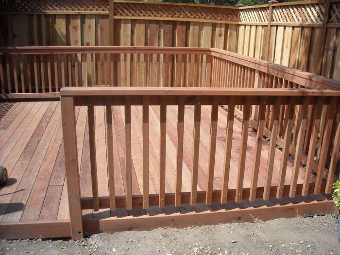 Best Conheart Redwood Deck With Wood Rail 2 Jpg 700×525 400 x 300