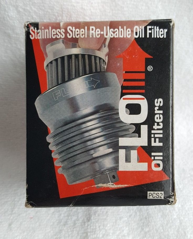 PC Racing PCS2 Flo Stainless Steel Reusable Oil Filter Retails for $132.00 #PCRacing