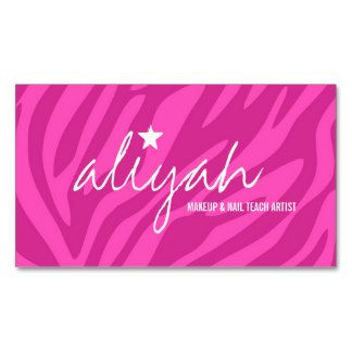 17 best avon business cards templates images on pinterest 311 pink star zebra stripes appointment card business card nail salon hair salon reheart Gallery