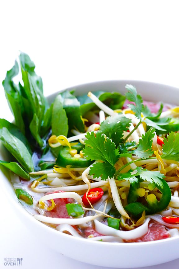 Vietnamese Pho Soup from GimmeSomeOven.com
