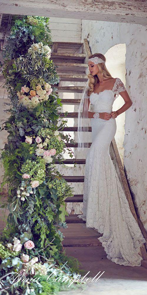 18 Vintage Inspired Wedding Dresses ❤ See more: http://www.weddingforward.com/vintage-inspired-wedding-dresses/