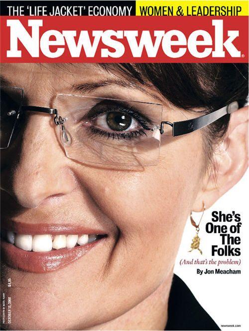 ❥ sarah palin left eye newsweek cover~ Illuminati puppet