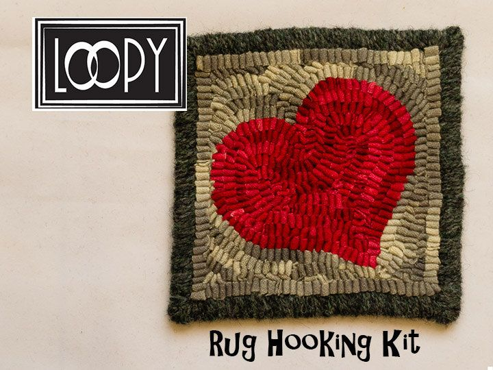 DIY Craft Kit, Rug Hooking Kit for Beginners, Primitive Rug Hooking Kit, Craft Kit by LoopyWoolSupply on Etsy