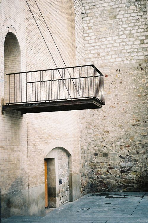 Lookout balcony near Barcelona Museum of Contemporary Art Photography by Steven Quinn