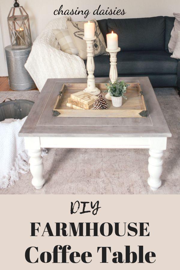 Diy Farmhouse Coffee Table Facebook Marketplace Finds Coffee