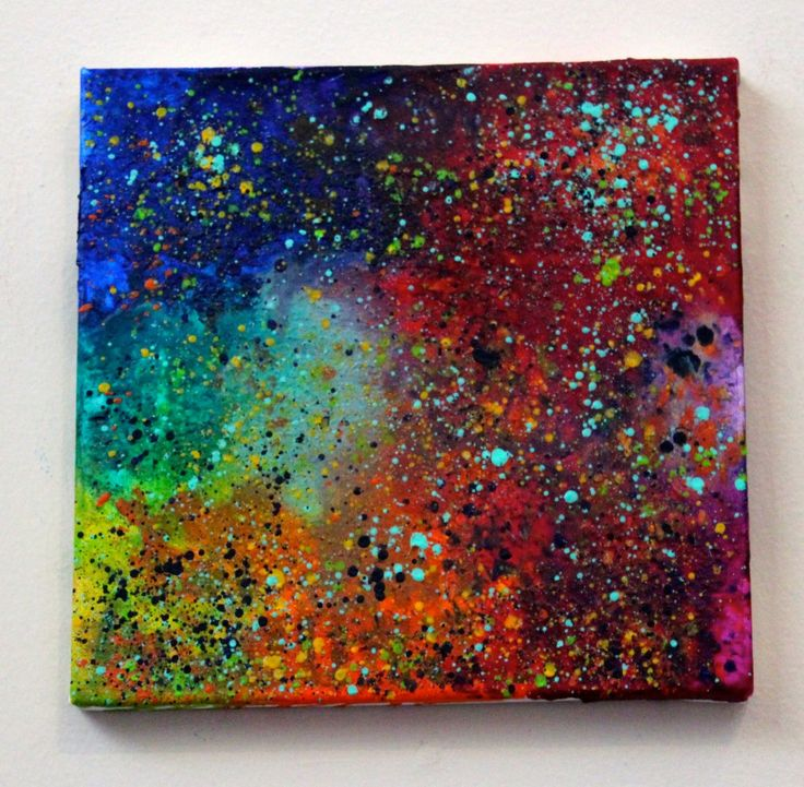 Beautiful melted crayon art background, love the colors here!