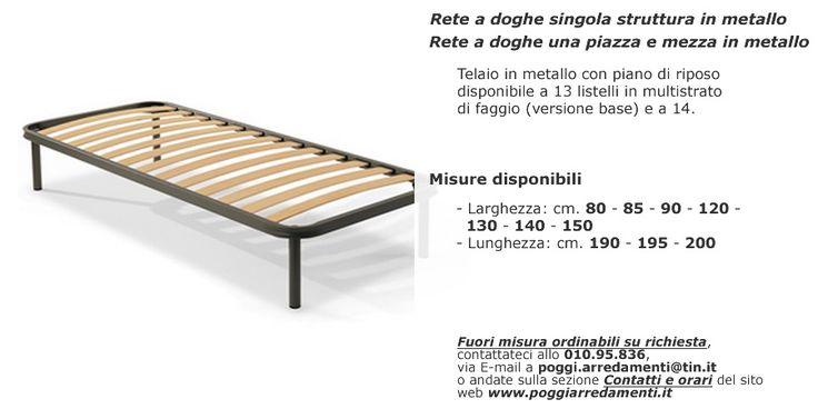Rete a doghe in metallo singola e matrimoniale nel Settore #riposarebene di #PoggiArredamenti #Beinaschi #ValTrebbia #Genova