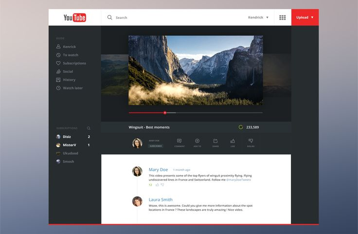 Youtube Redesign by Salomon Aurélien
